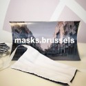 Etui de 2 masques de protection double-couche réutilisables masks.brussels